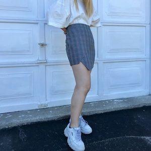 Dresses & Skirts - Asymmetrical plaid skirt